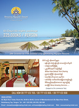 Promotion of After Thindagyun Package at Amazing Ngapali Resort (03 Days/02 nights)