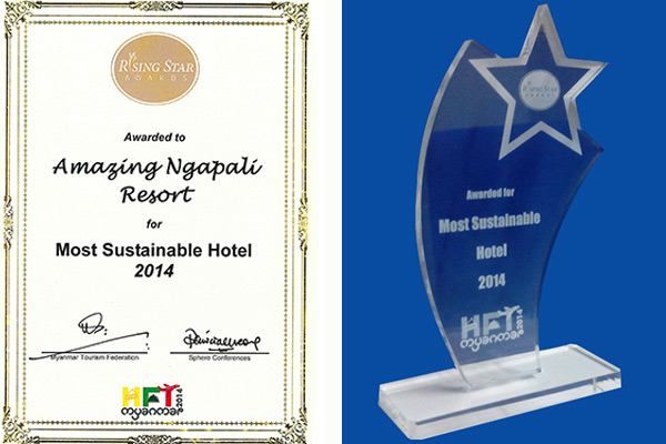 The Most Sustainable Hotel Award for 2014