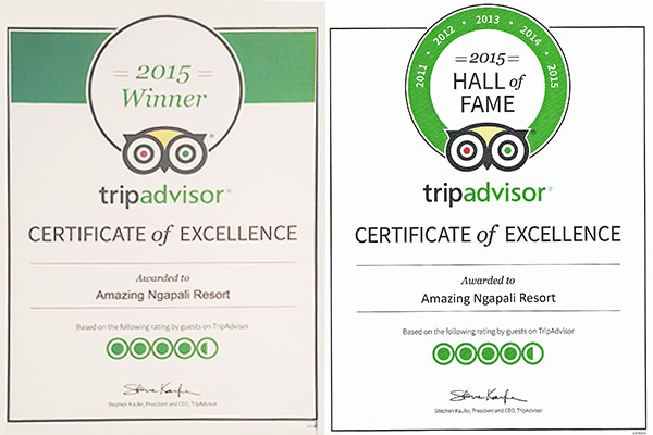 Certificates of Excellence By Tripadvisor.com